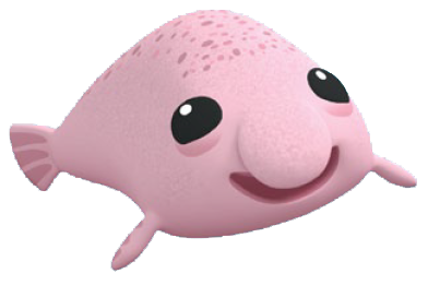 royalty free library Blobfish drawing cute. Octonauts animals google search