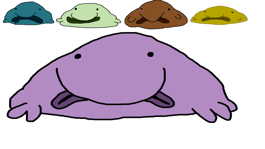 clipart library library Adoptables by freak senpai. Blobfish drawing side view