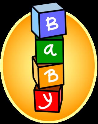 banner transparent Baby blocks clipart. Image clip art christart