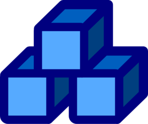 clipart free library Blue blocks clip art. Block clipart.