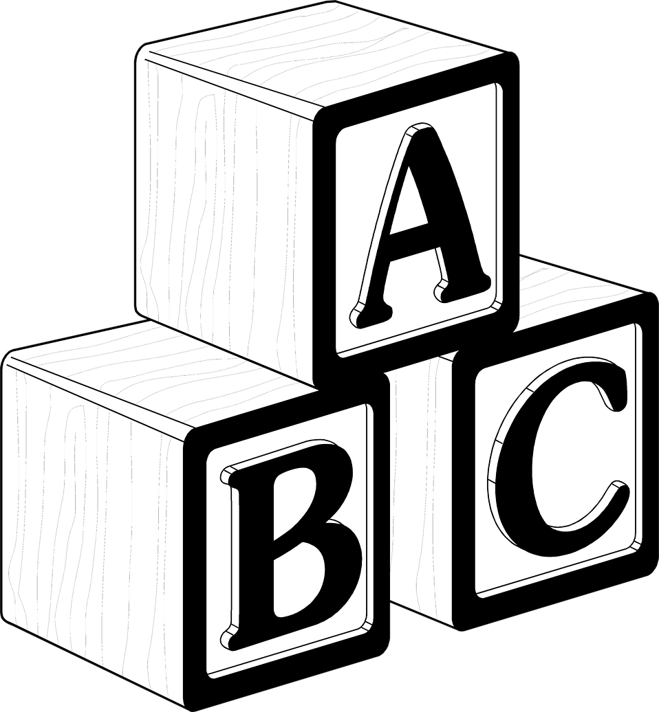 clipart free library Blocks black and white. Block clipart cinder block