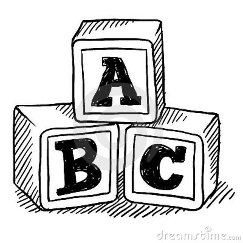 jpg royalty free Block drawing. Clipart abcd transparent free