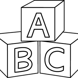 jpg library library Block drawing. Abc blocks at getdrawings