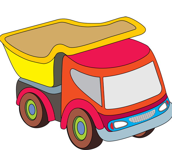 graphic transparent download Toy truck block . Boys clipart car