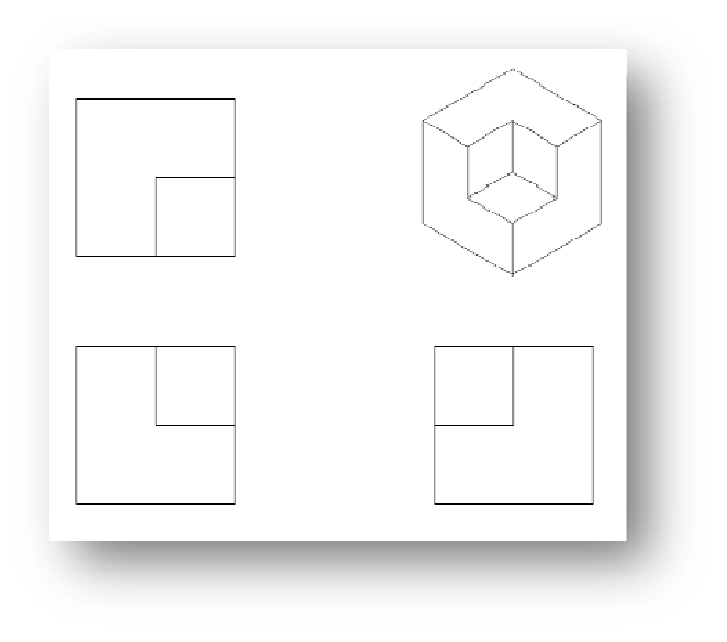clipart black and white download Multi view isometric of. Block drawing