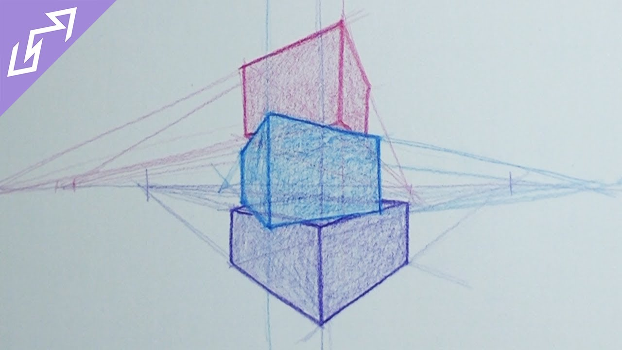 clip art free stock Sketch of the day. Block drawing geometric perspective