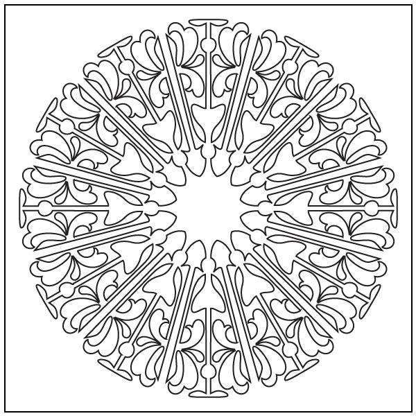 graphic royalty free Block drawing kaleidoscope design. Naomi s