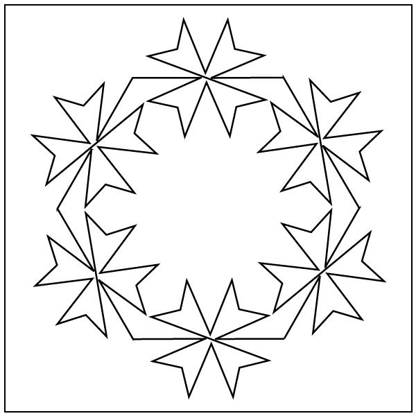 clip free stock Block drawing kaleidoscope design.