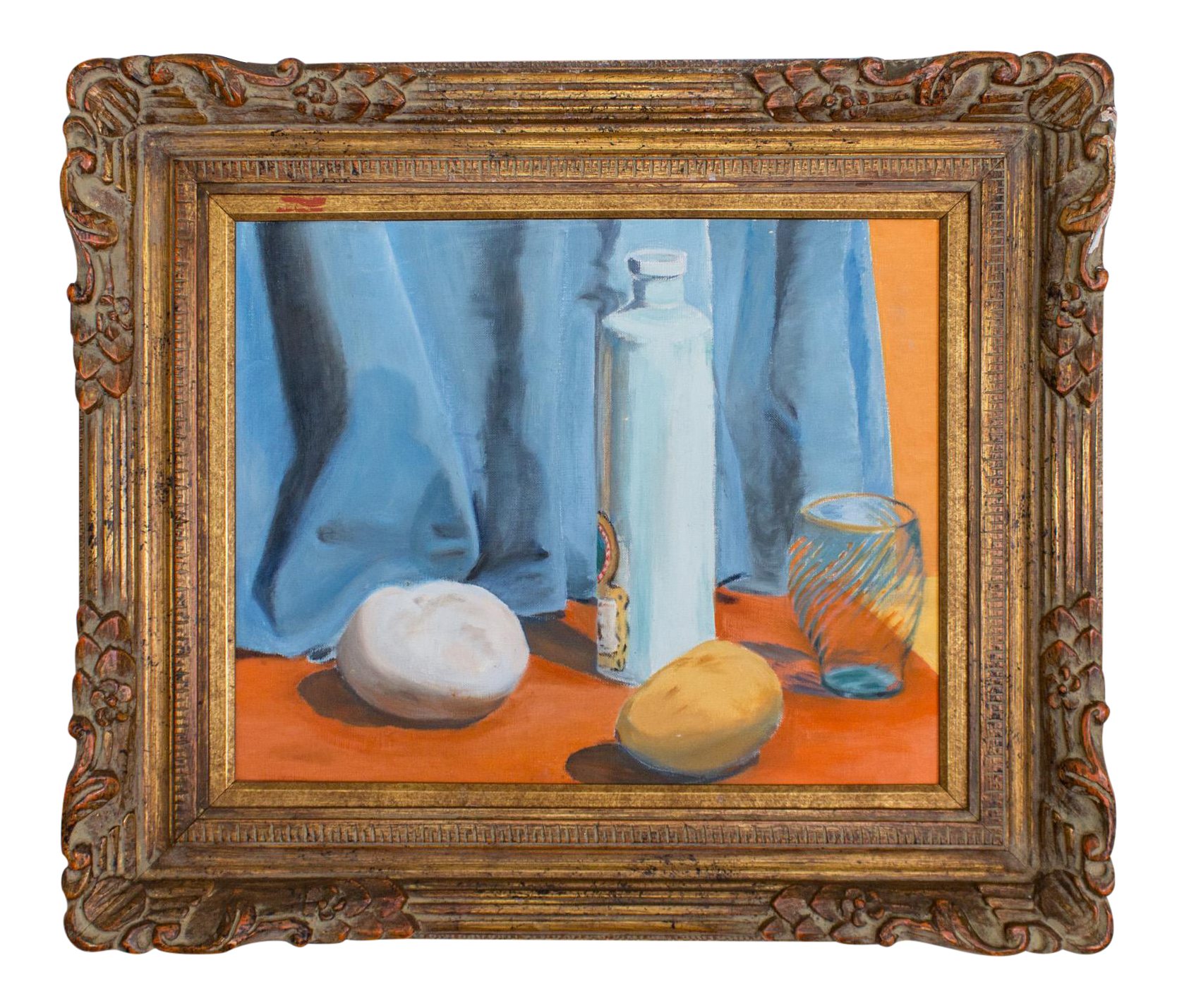 transparent stock Framed still life pastel. Block drawing painting