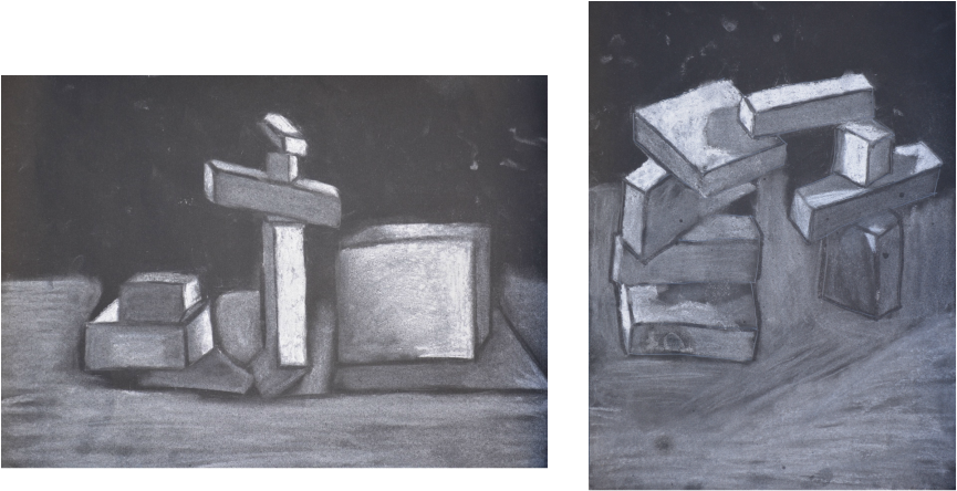 svg stock Home drawings by a. Block drawing still life