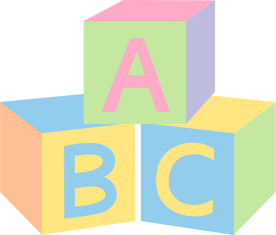 picture royalty free download Abc clip art baby. Blocks clipart