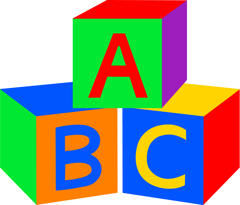image freeuse stock Abc baby blocks free. Block clipart animated.