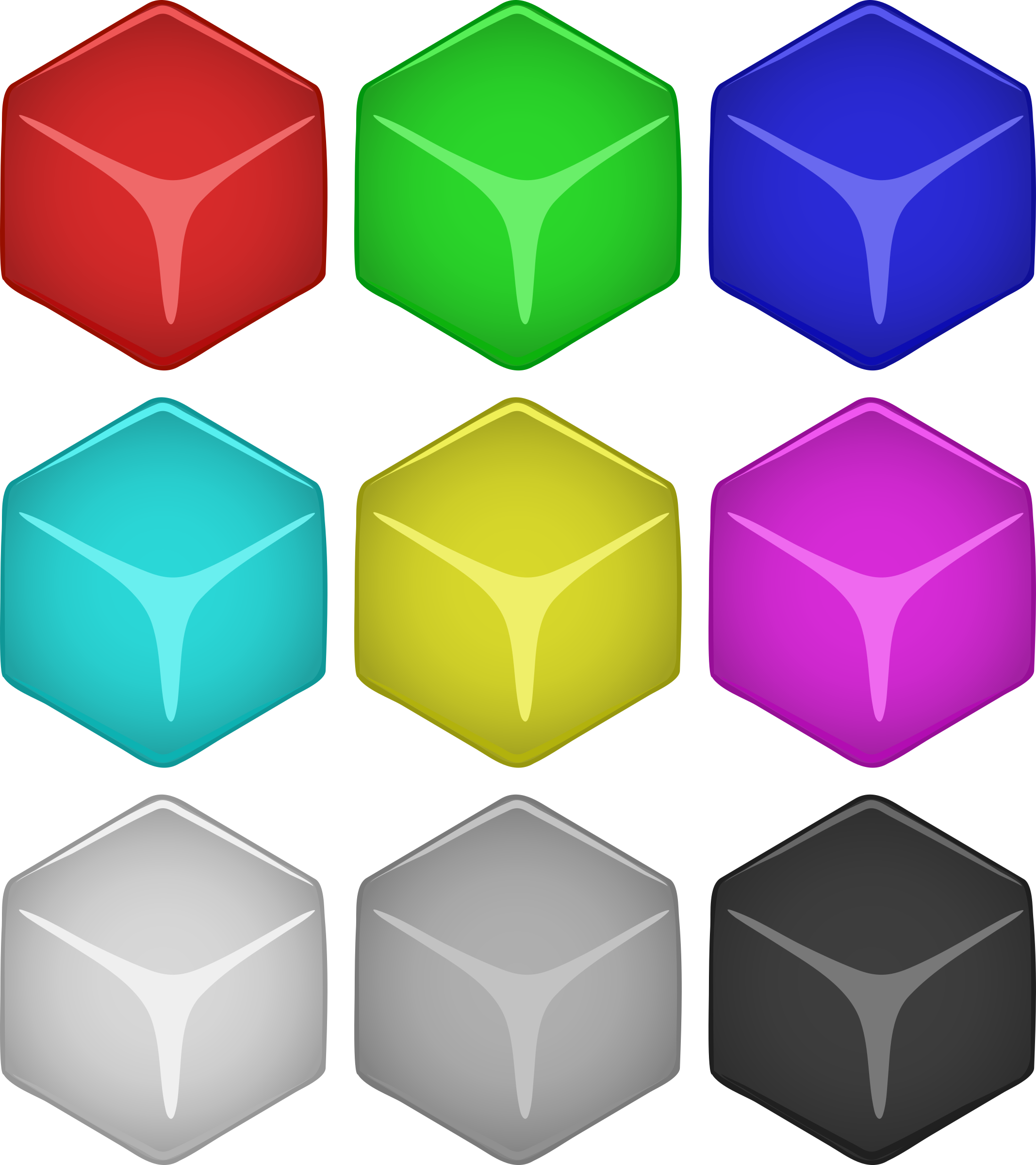 clip transparent Cube Clipart colored block