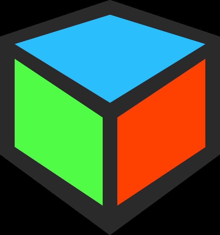image freeuse stock Colored block free on. Blocks clipart cube shape