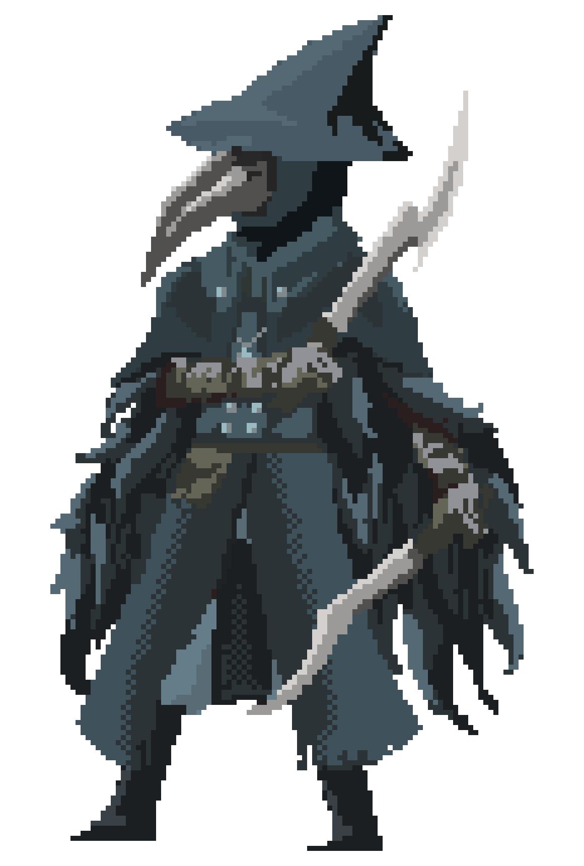 vector free stock Pixelborne eileen the crow. Bloodborne drawing bone ash