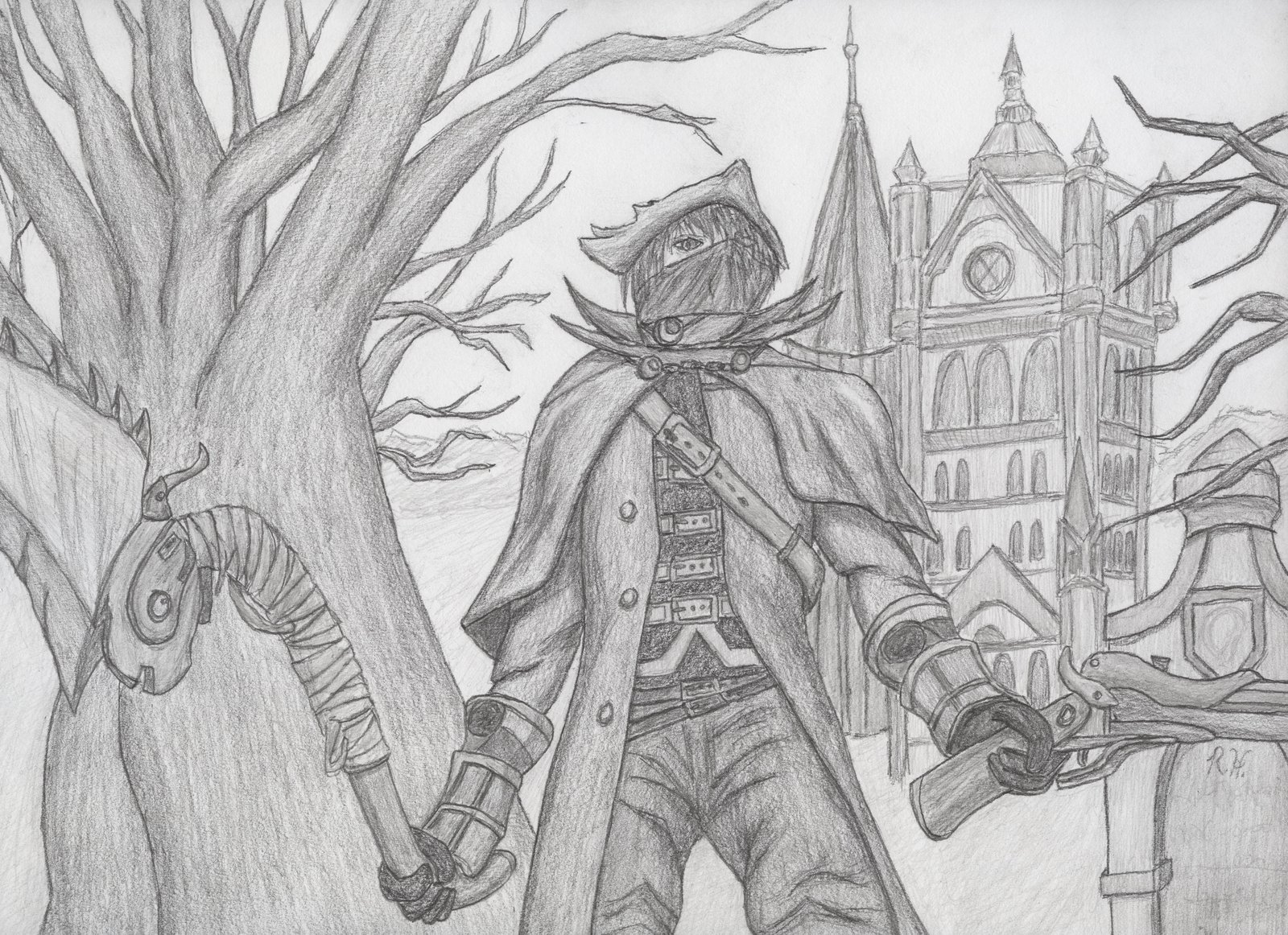 library At paintingvalley com explore. Bloodborne drawing easy