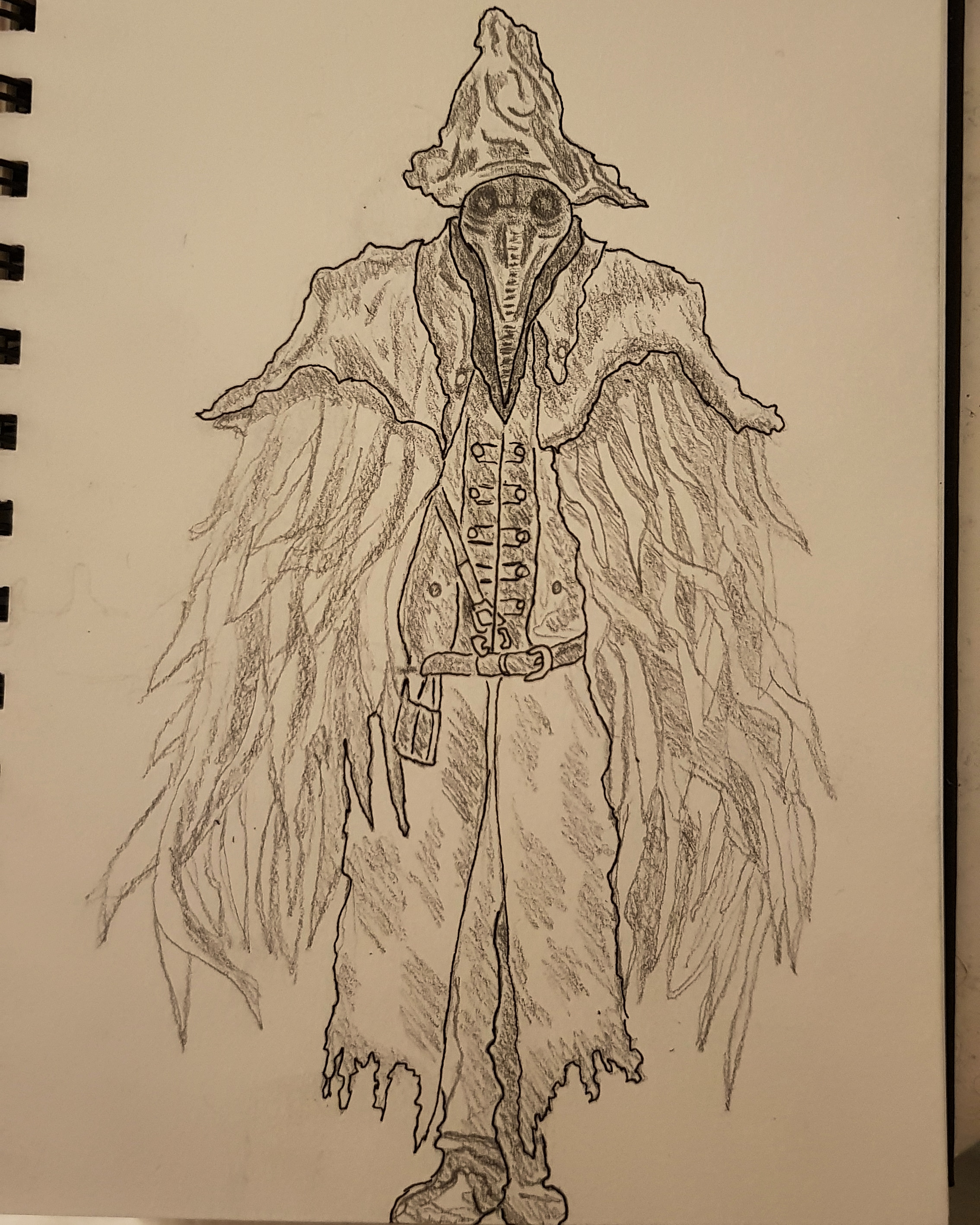 clipart royalty free A quick sketch of. Bloodborne drawing eileen the crow