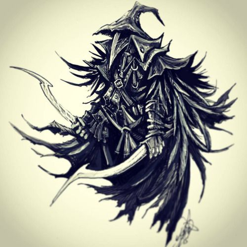 vector library Bloodborne drawing eileen the crow. From done as a