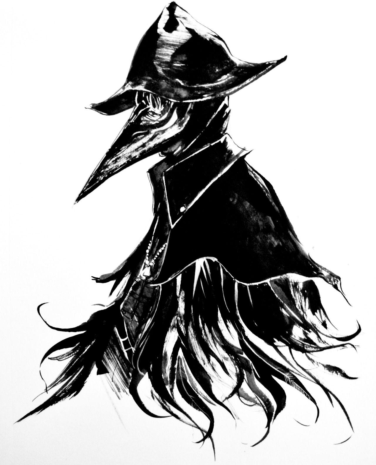 jpg stock Bloodborne drawing eileen the crow. Pin by daniel g