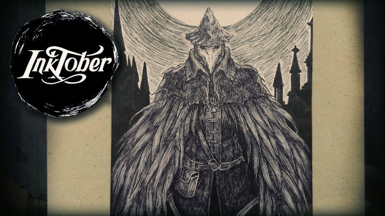 jpg freeuse Inktober week . Bloodborne drawing eileen the crow