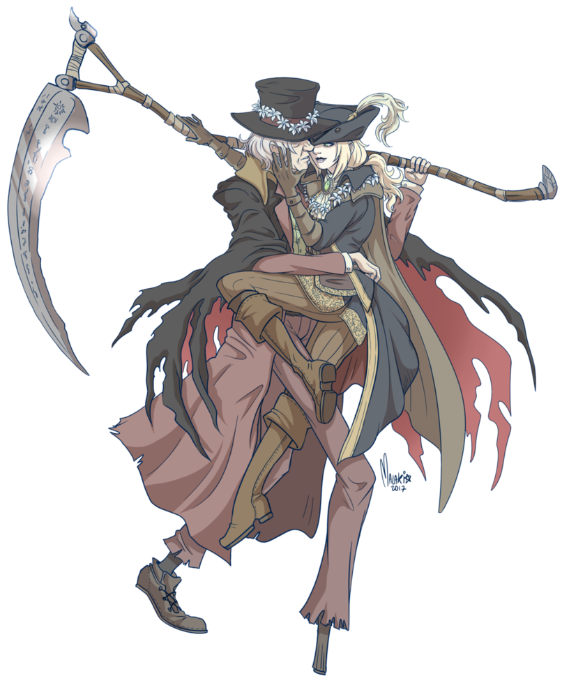 jpg freeuse Yes it s even. Bloodborne drawing gehrman the first hunter
