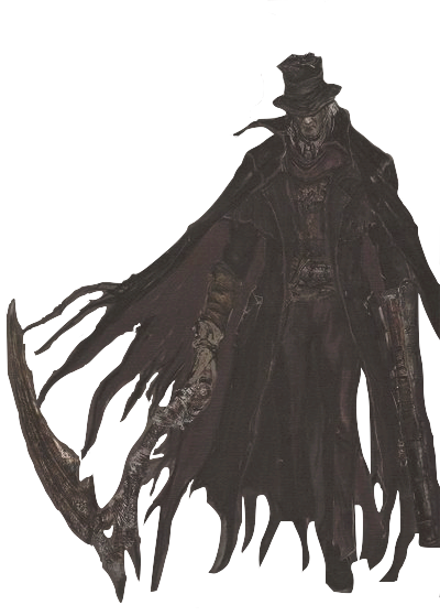 banner transparent Bloodborne drawing hunter's dream. Gehrman the first hunter