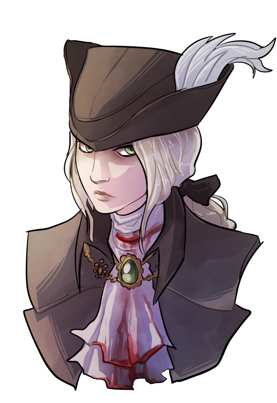 svg black and white library Lady maria bust by. Bloodborne drawing ink