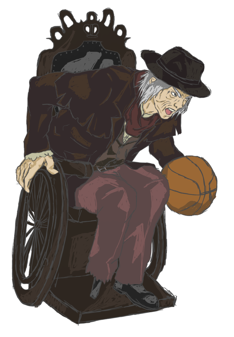 graphic transparent stock Gehrman wheelchair basketball by. Bloodborne drawing messengers