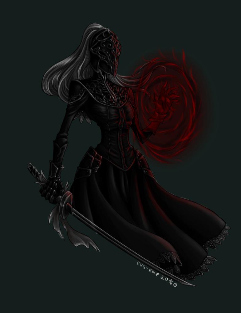 vector stock Yuria of londor dark. Bloodborne drawing pen