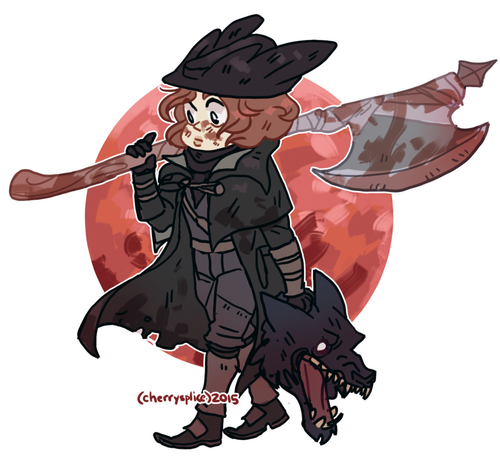 graphic royalty free Bloodborne drawing sad. My little hunter by