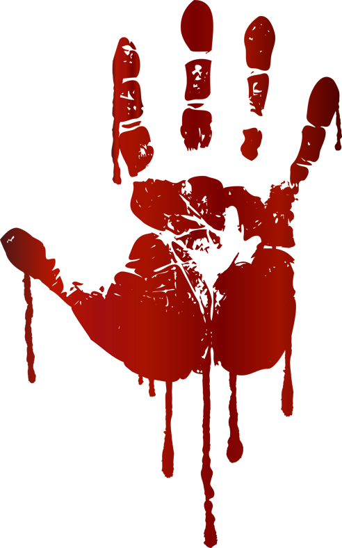 picture library download Bloody Handprint Clipart