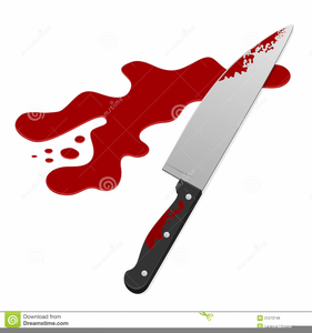 graphic black and white library Free images at clker. Bloody knife clipart