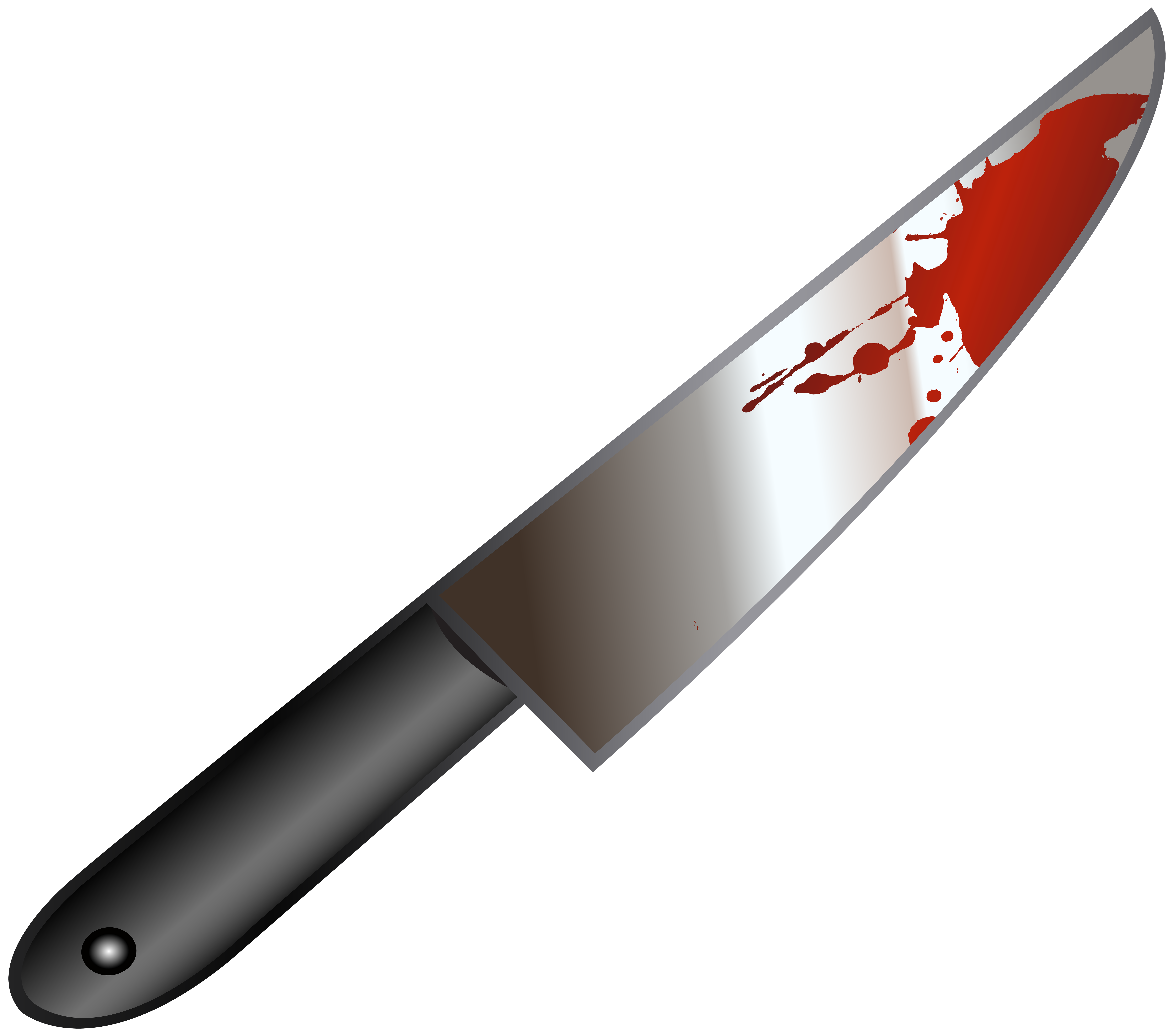 transparent stock Bloody knife clipart. Png clip art image