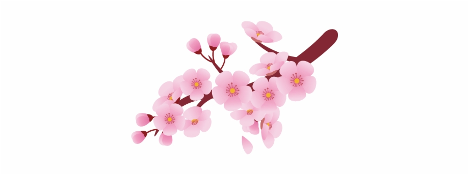 clip transparent library Blossom clipart. Flower clip art cherry.