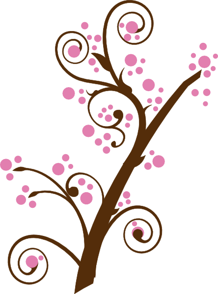 png free library Blossom clipart. Brown tree clip art
