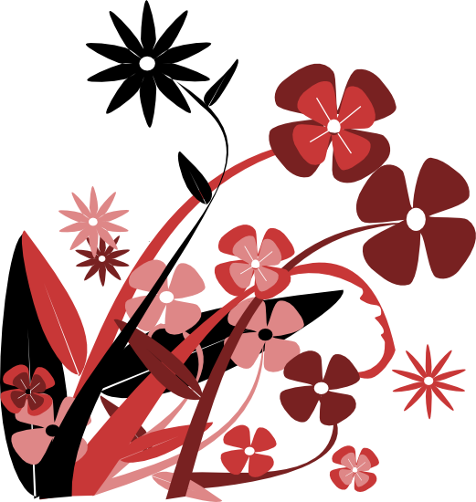 vector black and white stock Free Flower Clipart and Graphics