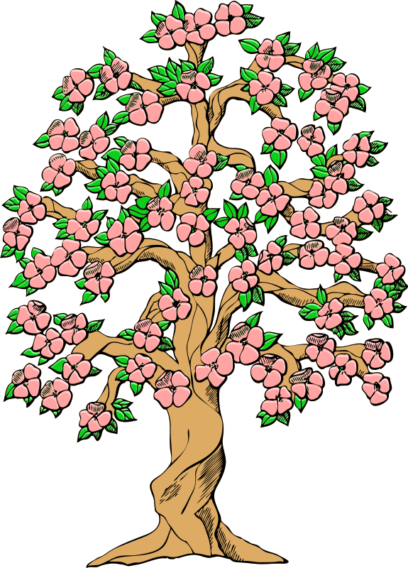clip art black and white Blossom clipart dogwood tree. Silhouette at getdrawings com.