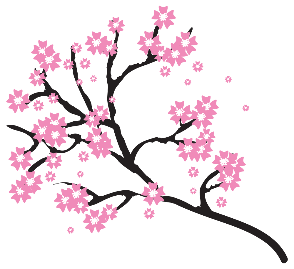black and white download Cherry Blossom Clipart at GetDrawings
