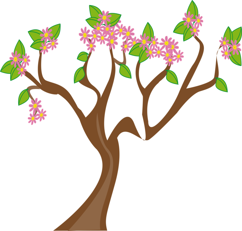 graphic royalty free download Blossom clipart tree. Flowering plant shrub free