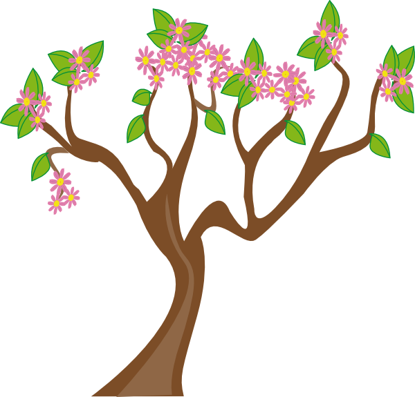 svg transparent Blossom clipart tree. Spring group clip art