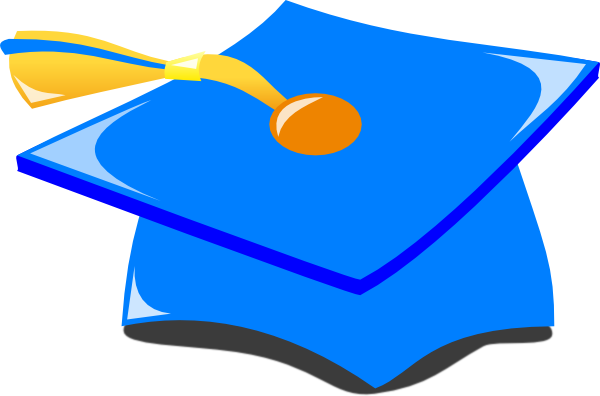 clip free Graduation Hat Blue And Gold Clip Art at Clker