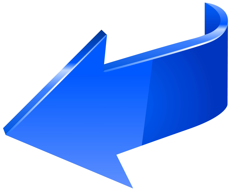 clip library stock Left transparent png clip. Blue arrow clipart.