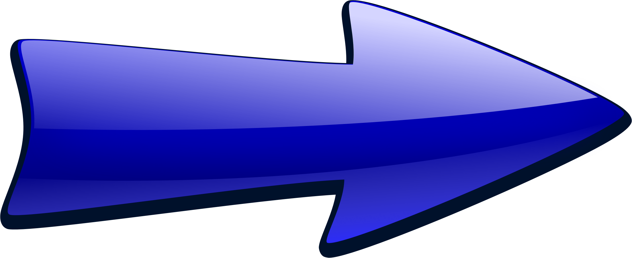 freeuse download Blue arrow clipart. Shiny big image png.