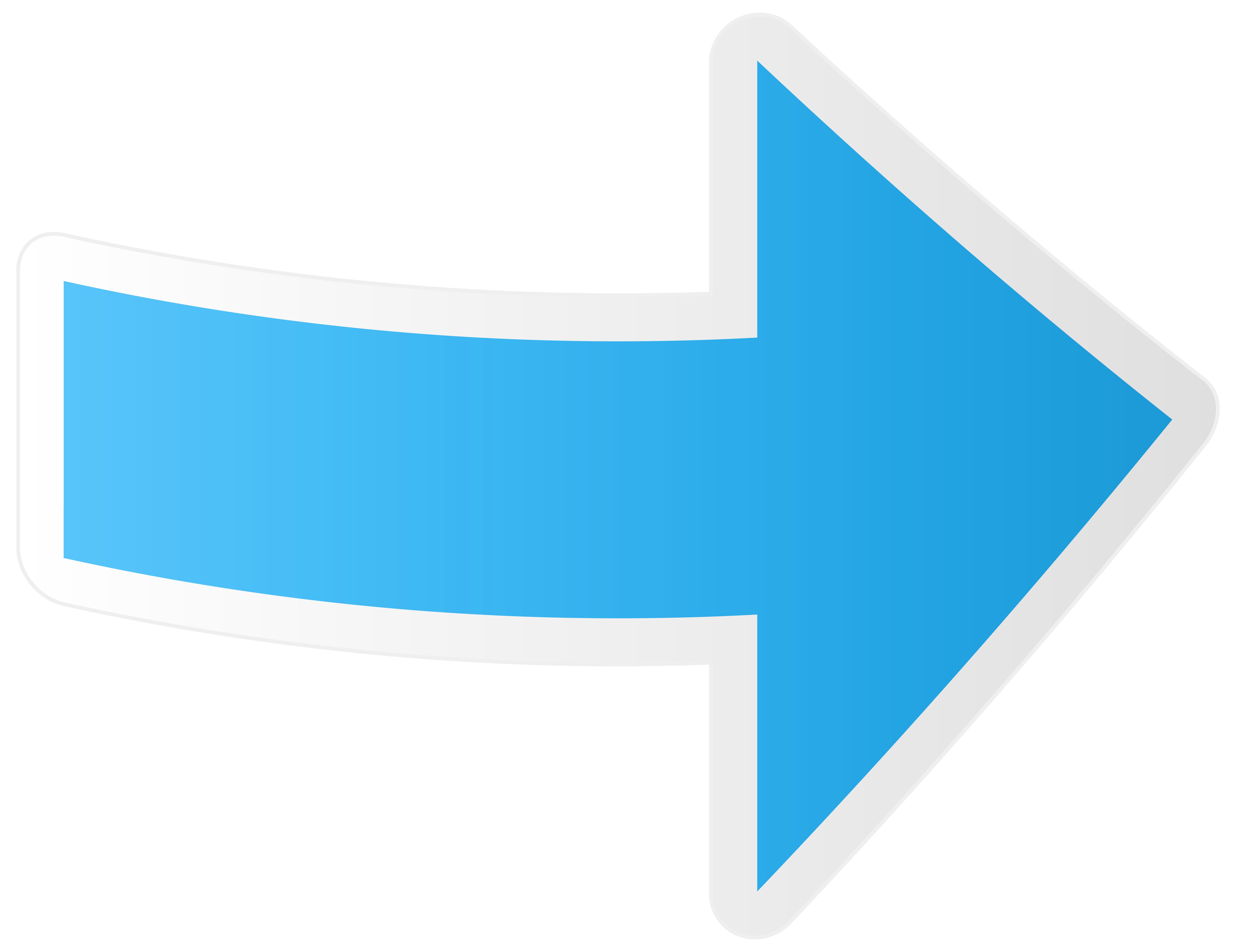 jpg library Blue arrow clipart. Rigt transparent png clip.