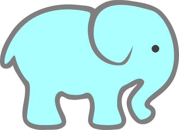 png transparent stock Blue Baby Elephant Clip Art at Clker