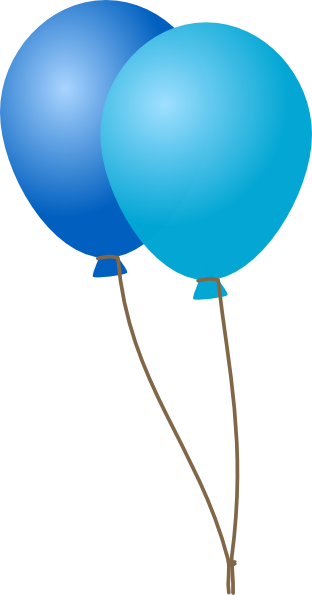 black and white Emmas Blue Balloons Clip Art at Clker