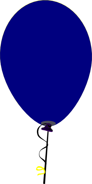 clip transparent Straight blue clip art. Vector balloon flat design