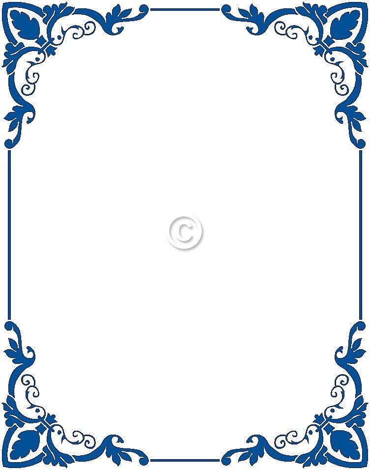 graphic free download Free clip art pinterest. Blue border clipart