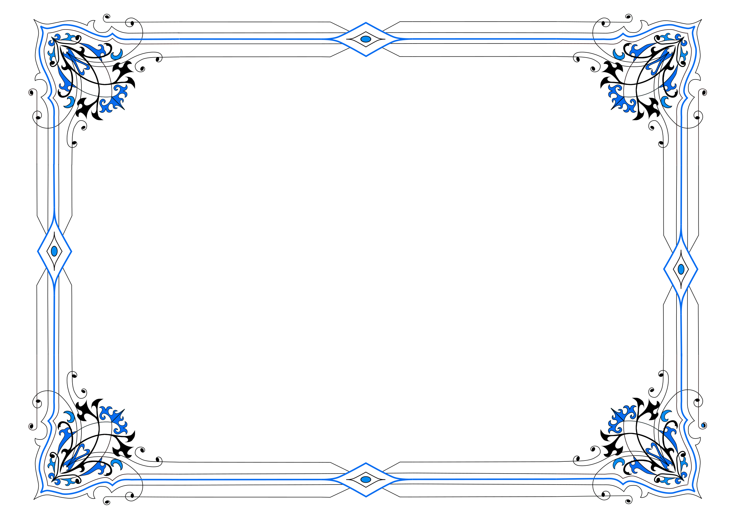clip library stock Blue borders clipart. Border variation in icons