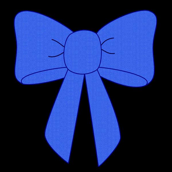 clip transparent Blue Bow Ribbon Clipart